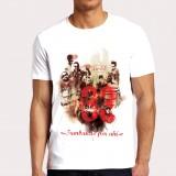camiseta blanca hombre grupo